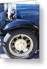 Classic Antique Car- Roaring Twenties - Detail Greeting Card