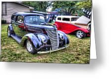 Classic Black Ford Greeting Card