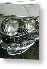 Classic Car - White Grill 1 Greeting Card