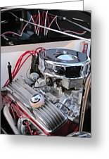 Classic Car Engine Greeting Card
