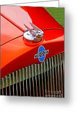 Classic Chevrolet Hood And Grill Greeting Card