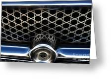 Classic Chrome Car Grill Greeting Card