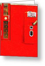 Classic Coke Dispenser Machine . Type 2 . Long Cut Greeting Card by Wingsdomain Art and Photography