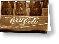 Classic Coke Work B Greeting Card