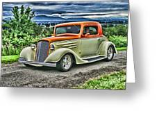 Classic Ford Hdr Greeting Card