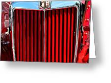 Classic Red Mg Greeting Card