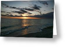 Classic Sunset Greeting Card