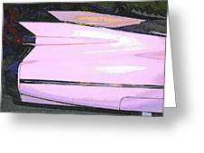 Classic Tails - Pink 1959 Cadillac Greeting Card