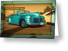 Classic Teal Convertible Greeting Card