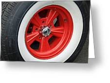 Classic White Wall Tire And Mag Greeting Card