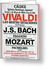 Classical Concert Poster Greeting Card