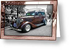 Classy Brown Ford Greeting Card