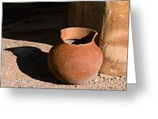 Clay Pot And Shadow Greeting Card