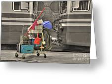 Cleaning Equipment Greeting Card