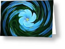 Clear Blue  Greeting Card