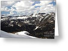 Clear Day On Rendezvous Mountain Greeting Card