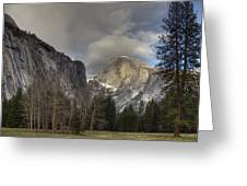 Clearing At Half Dome Greeting Card