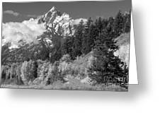 Clearing Storm On Grand Teton  Greeting Card