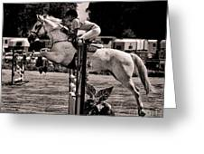 Clearing The Hurdle Greeting Card