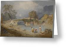 Clearing Up For Fine Weather Beddgelert North Wales 1867 Greeting Card