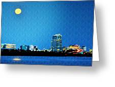 Clearwater At Night Greeting Card