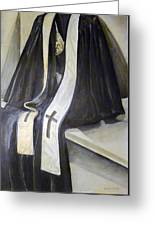 Clergy Attire Greeting Card by Linda Pope