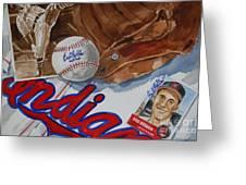 Cleveland Legend Bob Feller Greeting Card