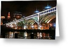 Cleveland Reflection Greeting Card by Rotaunja