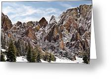 Cliff Texture Greeting Card