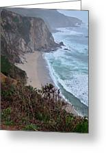 Cliffs And Surf On The California Coast Greeting Card