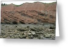 Cliffs At Joggins Nova Scotia Greeting Card