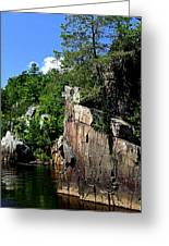 Cliffs On The St Croix Greeting Card