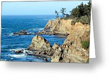 Cliffside Oceanview Greeting Card