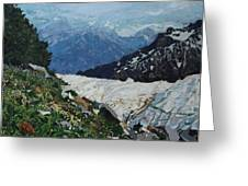 Climbing Mount Rainier Greeting Card