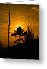 Clingmans Dome Sun Spot Greeting Card