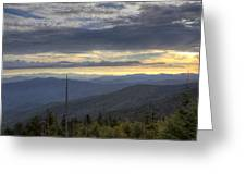 Clingmans Dome Sunset Greeting Card