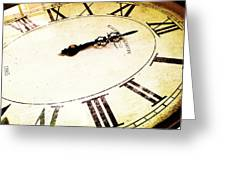 Clock 12 Greeting Card