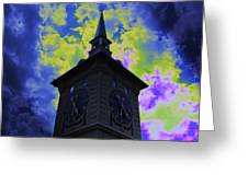 Clock Tower Night Greeting Card