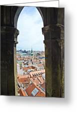 Clock Tower View - Prague Greeting Card