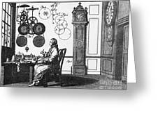 Clockmaker Greeting Card by Science Source