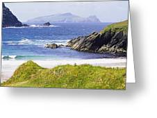 Clogher Beach, Blasket Islands, Dingle Greeting Card