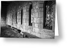 Cloisters Greeting Card by Maria Scarfone