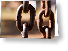 Close Up Of A Chain Link Greeting Card