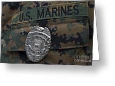 Close-up Of A Duty Master-at-arms Badge Greeting Card