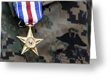 Close-up Of A Medal On The Uniform Greeting Card
