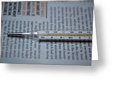 Close Up Of A Thermometer Greeting Card