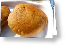 Close Up Of An Indian Food Delicacy Kachori Greeting Card