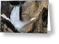 Close Up Of Lower Falls Greeting Card
