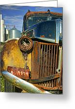Close Up Of Rusty Truck Greeting Card