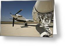 Close Up Of Turbo-prop Aircraft Greeting Card